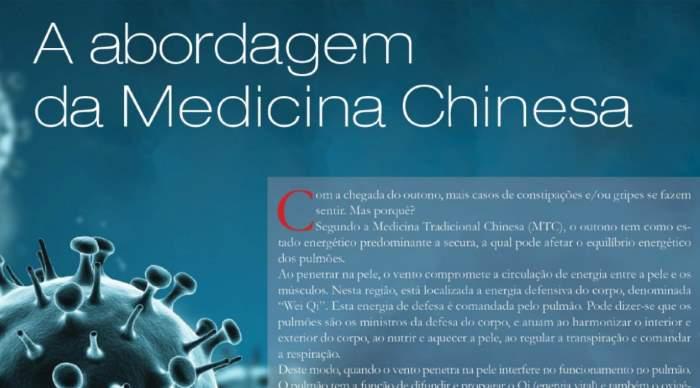 A abordagem da Medicina Chinesa no tratamento da Gripe