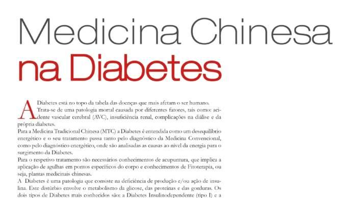 Medicina Chinesa na Diabetes